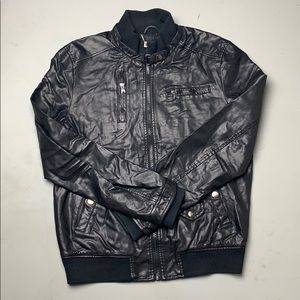 Zara man leather jacket &